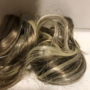 Accessories - Dark blonde and ash blonde gradient mix ponytail